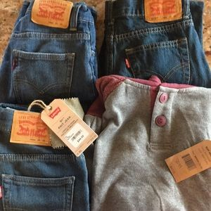 Boys Levi's bundle size 10R and NWT hoodie